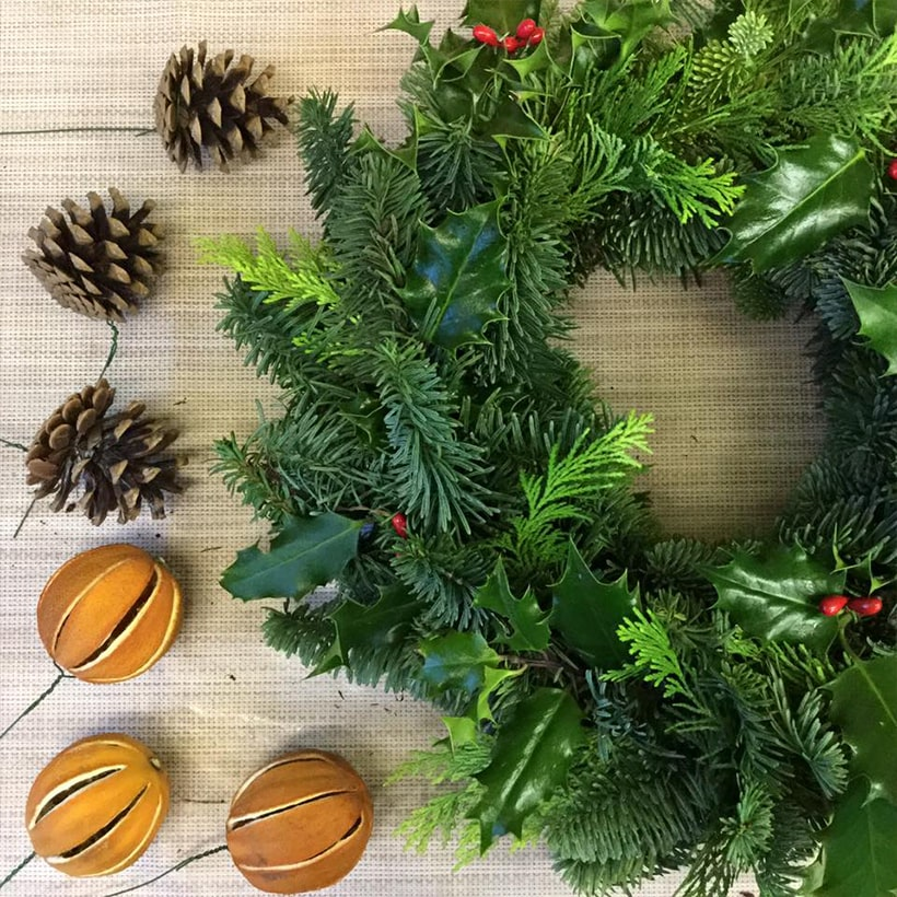 Image Christmas Wreath.Christmas Wreath Workshop Tuesday 03rd December Appledore
